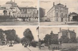 4 CPA:NOGENT SUR SEINE (10) MAISON HENRI IV PONT VERT,MUSÉE,THÉÂTRE,ROUTE DE PROVINS - Nogent-sur-Seine