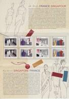 = La Mode Fashion, France Singapour, Souvenir 2013 Neuf 8 Timbres 4824 4825 4826 4827 (Singapour 1993 1994 1995 1996) - Emissions Communes