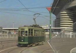 ATM 706 51 Milano Caproni Piazzale Santorre Carminati & Toselli Straßenbahn Vueling Raitiovaunu Trolley Trollies Transit - Stations With Trains