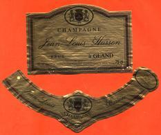 étiquette + Collerette De Champagne Brut Jean Louis Husson à Gland - 75 Cl - Champagne