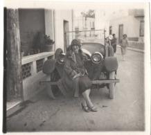 Automobile 1925 Cabriolet - Photo - Hotchkiss Jolie Jeune Femme Fille - Cars