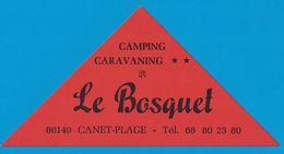 AUTOCOLLANT CAMPING CARAVANING LE BOSQUET 66140 CANET-PLAGE - Aufkleber