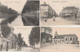 4 CPA:ROMILLY SUR SEINE (10) ATTELAGE CASINO,CANAL DU MOULIN,RUE DE LA BOULE D'OR,LIBRAIRIE PAPETERIE ÉGLISE - Romilly-sur-Seine
