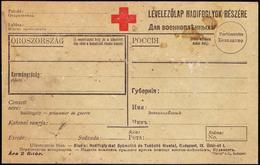 HUNGARY - RED  CROSS  CARD For Prisoners Of War  WW1 - Ungar/russian Langu. - Rode Kruis