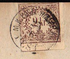 HUNGARY - SERBIA - NEWSPAPER  SERSKE  NOVINE Stamps 2kr. PEST To BEOGRAD - 1869 - Rode Kruis