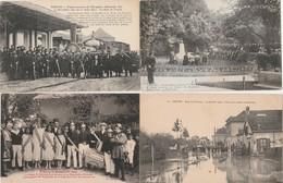 4 CPA:TROYES (10) FÊTES DE LA BONNETERIE,TRAIN SOUVENIR OCCUPATION ALLEMANDE GARE,RUE DE GOURNAY APRÈS INONDATION - Troyes