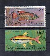BURUNDI - 1967 - Tematica Animali - PESCI - 2 Valori - Usati - (FDC20181) - Burundi
