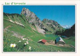 CPM: 74 Vallée D'Abondance , Le Lac D'Arvouin  Ed Flash Cartes ,  Circulée - Abondance