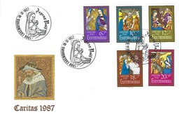 Luxembourg  -  FDC  -  16.12.1987  -  Caritas 1987 - FDC