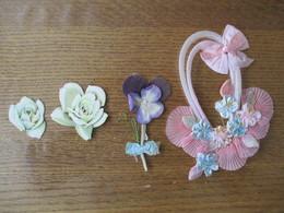PANIER FLEURI EN TISSU ,PENSEE ET ROSES - Flowers
