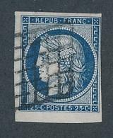 DH-191 FRANCE: Lot Avec N°4 Obl Bord De Feuille - 1849-1850 Cérès