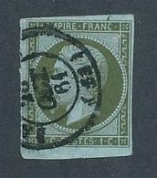 DH-192 FRANCE: Lot Avec N°11 Obl  Signé - 1853-1860 Napoléon III