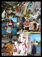 Cartoline A Tema Folklore E Costumi (10 Soggetti Sia Nuovi Che Viaggiati) - Costumi