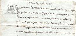 Acte Notarié Du 7 Frimaire An VII ( 27 Novembre 1798 ) Vosges Secteur De Serqueux Et Ainvelle - Manuscritos