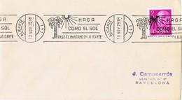 35848. Carta ALICANTE 1975. Rodillo Especial  Turismo. Sol En Invierno En Alicante - 1931-Hoy: 2ª República - ... Juan Carlos I