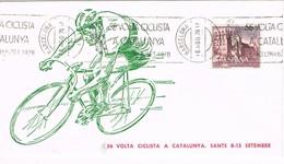 35849. Carta BARCELONA 1976. Rodillo Especial  58 Volta Ciclista Catalunya. Ciclismo - 1931-Hoy: 2ª República - ... Juan Carlos I