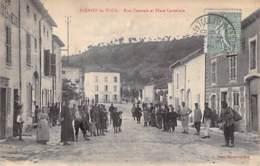 54 - BLENOD Les TOUL Rue Centrale Et Place Carrelure ( Bonne Animation ) CPA Village ( 1.090 H) - Meurthe Et Moselle - Frankreich