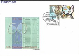 Slovenia 1999 Mi 256 FDC ( FDC ZE2 SLN256 ) - Stamps On Stamps