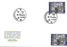 Luxembourg    FDC  9.5.2000  -  Robert Schuman - Déclaration Du 9 Mai 1950 - FDC