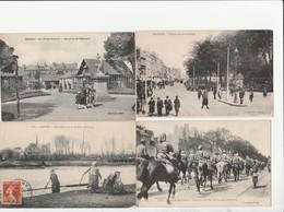 7 CPA:AMIENS (80) HORTILLONNE,RUE DES TANNEURS,CIRQUE,FOYER RETROUVÉ,COUPLE RETIRANT LA TOURBE,TROUPES FRANÇAISES - Amiens