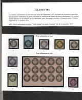 Timbres Fiscaux Fiscal Revenue Timbres Allumettes Période De 1871 Cote 470€ - Fiscaux