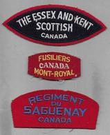 CANADA - Lot De 3 écussons - Ecussons Tissu