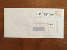 """PAP - PRET A POSTER ELECTRONIQUE """" Lettre En Ligne"""" Avec Vignette MARIANNE DE CIAPPA @ - Circulé - Biglietto Postale"""