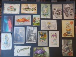 199 Cartes Postales Fantaisies - Anciennes Et Semi Modernes - Musicale - Chromos - Gauffrée Etc ( Photos ) B.E - Postcards