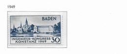 1949 MNH Baden, Postfris - Zone Française