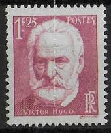 1935 - YVERT N° 304 ** MNH  - COTE = 9 EUR. - VICTOR HUGO - Francia