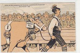 Grüsse Von Der Ausst.der Deutschen Landwirtschasfts-Ges. Stuttgart - Ausst.Stempel 1908 - Signiert        (A-186-191015) - Expositions