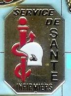 @@ Médical Casque Sapeurs Pompiers & Caducee Service De Santé Infirmiers @@pom77a - Brandweerman