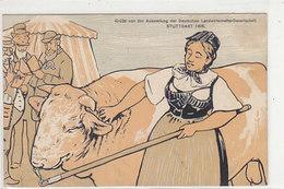 Grüsse Von Der Ausst.der Deutschen Landwirtschasfts-Ges. Stuttgart - Ausst.Stempel 1908        (A-186-191015) - Expositions