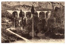 06 - LES GORGES DU LOUP - Le Viaduc Et La Route Du Bar - Ed. Frederic Laugier, Nice - Francia