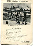 Croix Bleue De La Jeunesse Le Cheval De Halage Bonté Envers Les Animaux Pierre Paulus - 2 Scans - Horses