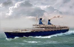 """Ship Postcard - Passenger  Ship  """" Achille Lauro  """" Variant  Read Description - Postcards"""