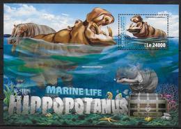 SIERRA LEONE BF 916 * *  ( Cote 20e )  Hippopotame - Postzegels