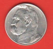 Polonia Poland 5 Zloty Zlotych 1934 - Polonia