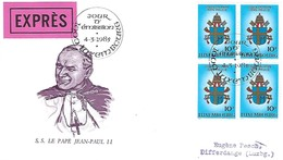 Luxembourg  -  FDC    4.3.1985  -  S.S. Le Pape Jean-Paul II - EXPRES - FDC