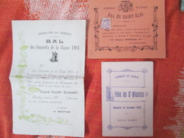 3 Documents De Cernoy Nievre  . Fete St Nicolas . Bal De Conscrits  Et Bal De St Eloi - Anuncios