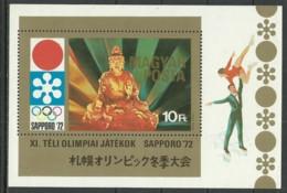 HUNGARY 1972 Year Mint Block MNH(**) Sport, Sapporo '72 - Blokken & Velletjes