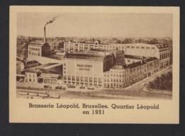 BRASSERIE LEOPOLD * BRUXELLES * QUARTIER LEOPOLD  EN 1931 * GRAND FORMAT * 2 SCANS - Advertising