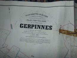 Carte  Atlas Cadastral Popp Commune De Gerpinnes - Situation Du Village établie Entre 1842 Et 1879 - Cartes Géographiques