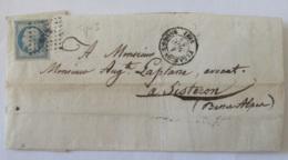 Timbre Napoléon III Non-dentelé 20c YT N°14A (superbe, Belles Marges) Sur Lettre Vers Sisteron - PC 3319 Tarascon - 1854 - 1853-1860 Napoléon III