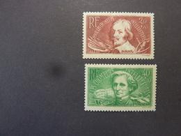 FRANCE, Année 1936, YT N° 330 Et 331 Neufs MH, Petit Aminci, Aide Aux Chômeurs Intellectuels - Francia
