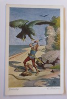 Nibelungen, Gudrunsage,  Serie 487, Nr. 6456  1910, O. Kubel  ♥ (24403) - Märchen, Sagen & Legenden