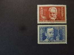 FRANCE, Année 1936, YT N° 332 Et 333 Neufs MH, Trace Charnières, Aide Aux Chômeurs Intellectuels - France