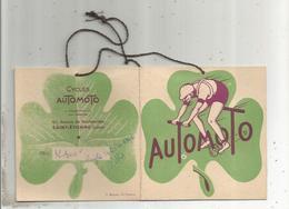 Publicité , étiquette , Cycles AUTOMOTO ,SAINT ETIENNE , 1952 ,  2 Scans,frais Fr 1.45 E - Pubblicitari