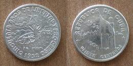 Cuba 20 Centavos 1952 UNC 1902 1952 50 Ans Republique Silver Argent Centavo Que Prix + Port Pesos Paypal Bitcoin - Cuba