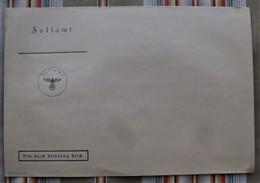 Enveloppe Vierge Douane ZOLLAMT Frei Durch Ablosung Reich, Tampon WW2 - Documents